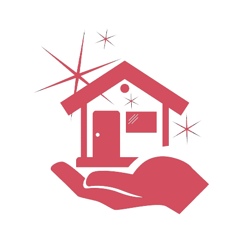 Clean house in hands icon